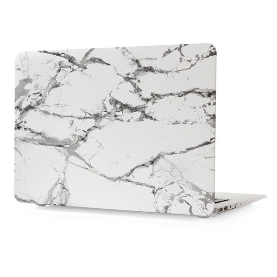 Zestaw CANVASLIFE Briefcase White + Białe Etui MARMUR Hard Case do MACBOOK AIR 13