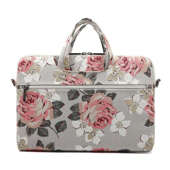 Zestaw CANVASLIFE Briefcase White + Różowe Etui Glittery ToughShell do MACBOOK AIR 13 (A1369/A1466)