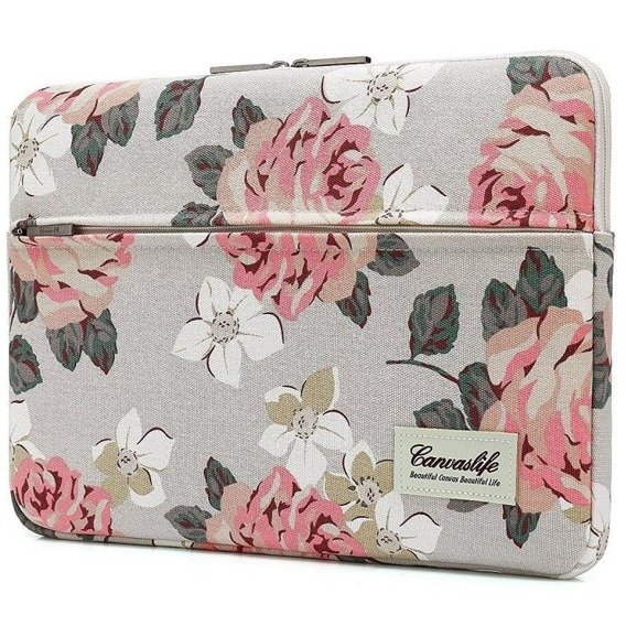 Zestaw CANVASLIFE Sleeve White + Srebrne Etui Glittery ToughShell do MACBOOK AIR 13