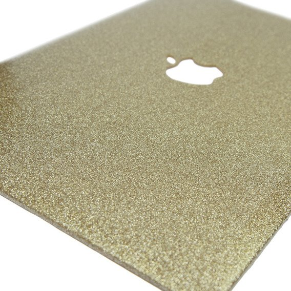 Zestaw CANVASLIFE Sleeve White + Złote Etui Glittery ToughShell do MACBOOK AIR 13