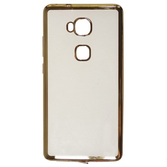 Zestaw Etui Plated Edges TPU Case Huawei Honor 5X - Champagne Gold + SZKŁO