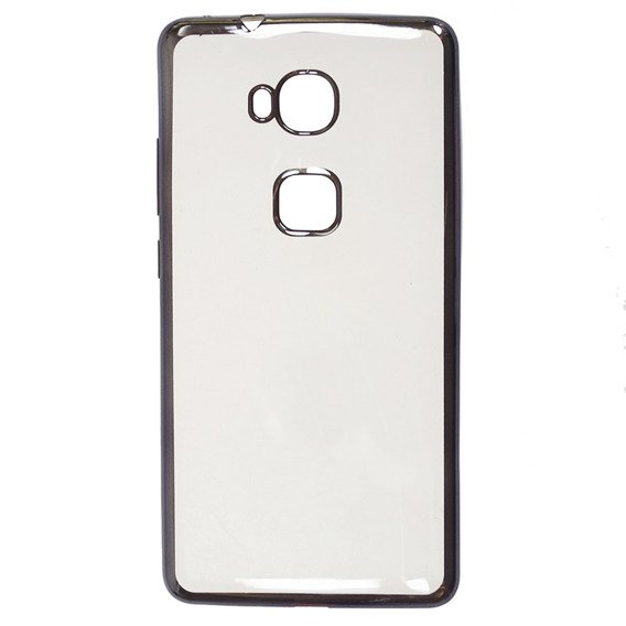 Zestaw Etui Plated Edges TPU Case Huawei Honor 5X - Grey + SZKŁO