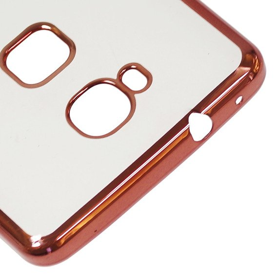 Zestaw Etui Plated Edges TPU Case Huawei Honor 5X - Rose Gold + SZKŁO