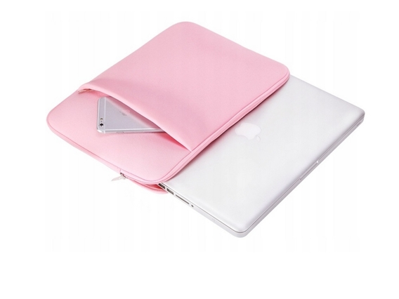 Zestaw Neoprenowe Etui + Hard Case do Macbook Air 13.3  (A1369/A1466) - Różowe