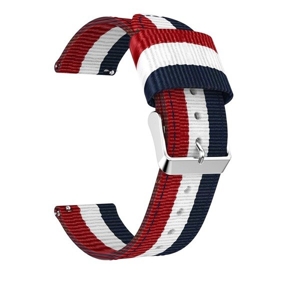 Zestaw Nylonowy Pasek Welling do Samsung Galaxy Watch 46mm - Navy/Red + Szkło Glass Pro+