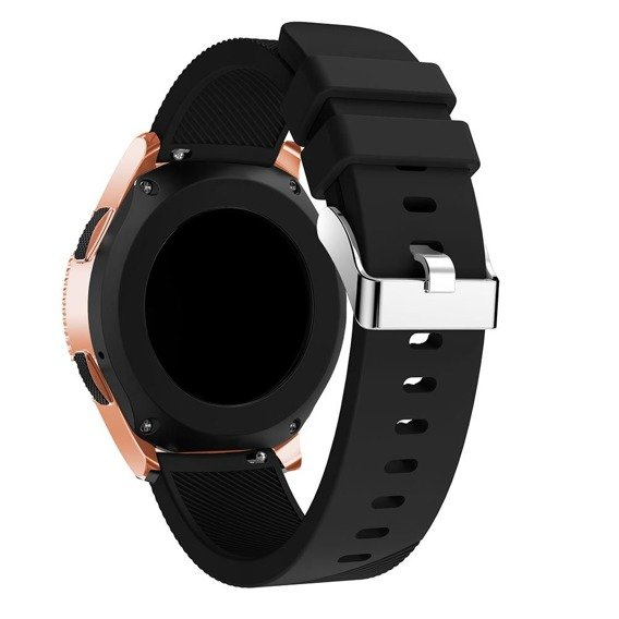 Zestaw Pasek Smoothband do Samsung Galaxy Watch 46mm - Black + Szkło Glass Pro+