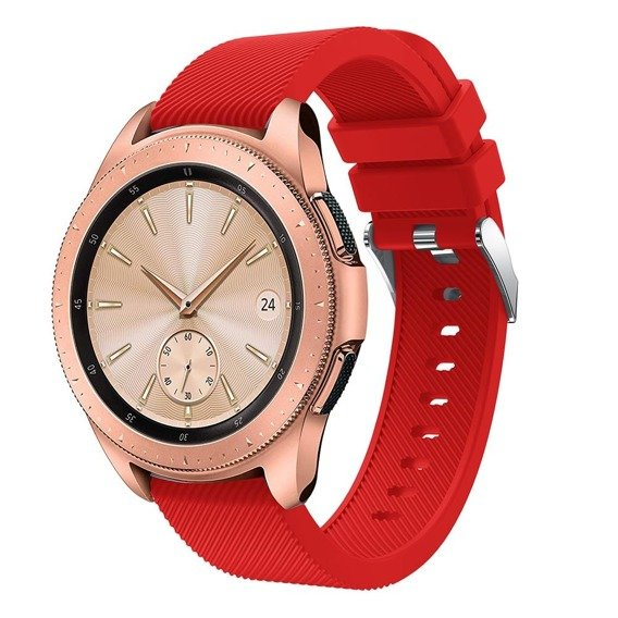 Zestaw Pasek Smoothband do Samsung Galaxy Watch 46mm - Red + Szkło Glass Pro+