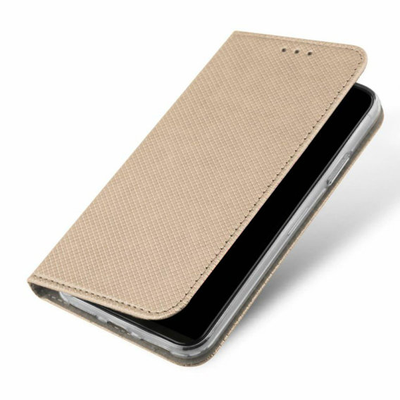 Złote Etui Flexi Book Magnetic Huawei Honor Play