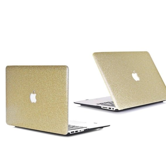 Złote Etui Glittery ToughShell Macbook Air 13.3 A1369 A1466